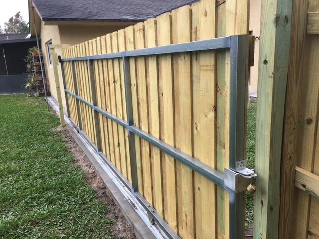 backyard fence installation weston